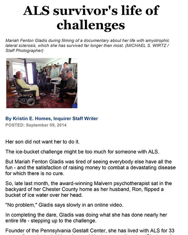 ALS Survivor's Life of Challenges