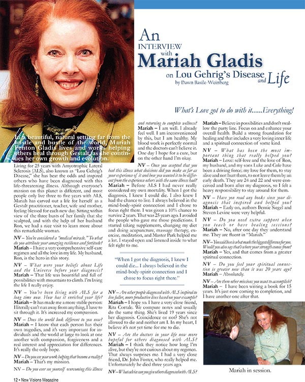 An Interview with Mariah Gladis on Lou Gehrig's Disease and Life