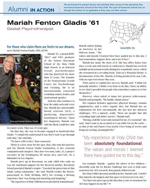 Mariah Fenton Gladis, Gestalt Psychotherapist